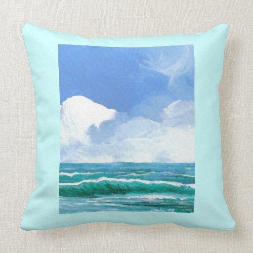 Almohada 2 de la decoración de la playa de las ola