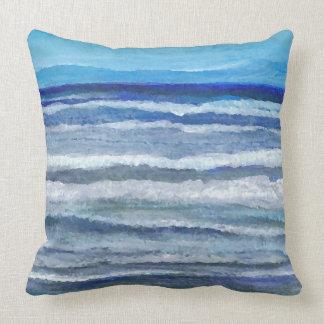 Almohada 3 de la decoración del mar de la pintura