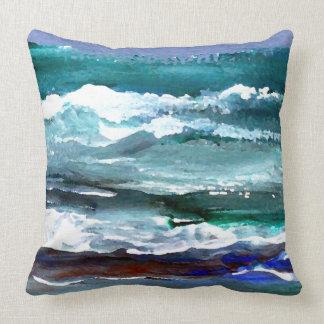 Almohada 5 de la decoración del mar de la pintura