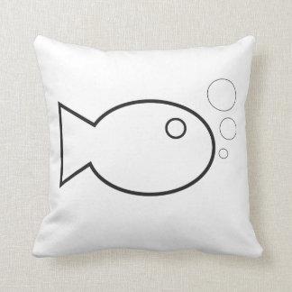 almohada a pescado simple