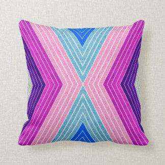 ALMOHADA ABSTRACTA del MODELO, retro azul púrpura