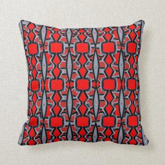 Almohada abstracta moderna roja de la diversión