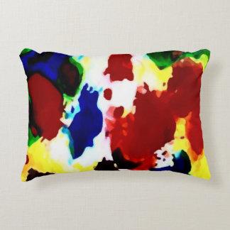 Almohada abstracta primaria de los colores