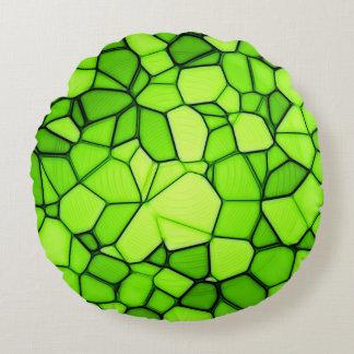 Almohada abstracta verde decorativa hermosa cojín redondo