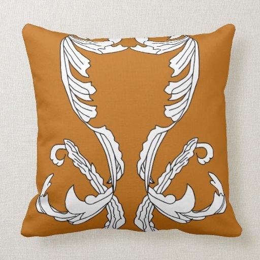 Almohada adornada de la decoración del chocolate d