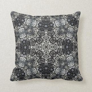Almohada africana negra/blanca azul/gris del