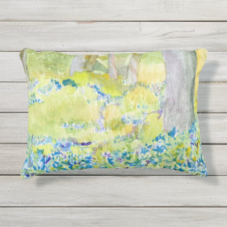 Almohada al aire libre azul y verde de la arboleda cojín de exterior