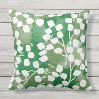 Almohada al aire libre botánica, verde
