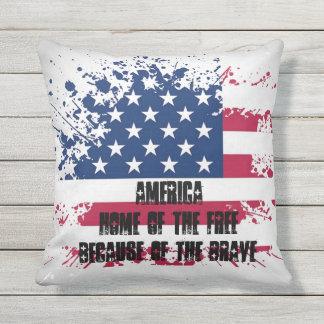 Almohada al aire libre de la bandera americana