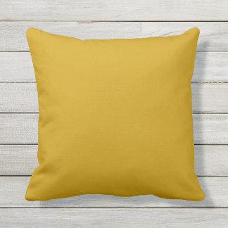 almohada al aire libre del amarillo de la mostaza