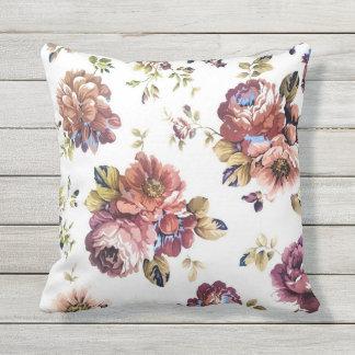 Almohada al aire libre del estampado de flores del