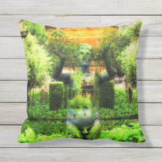 Almohada al aire libre del jardín surrealista del