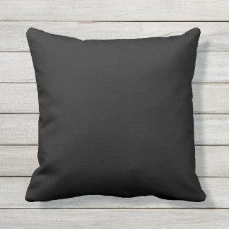 almohada al aire libre negra del color sólido