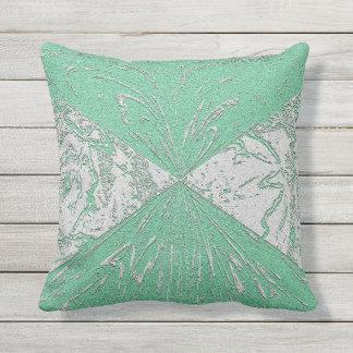 Almohada al aire libre o interior verde en colores