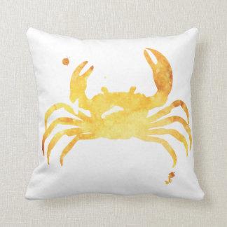 Almohada amarilla de encargo del cangrejo del