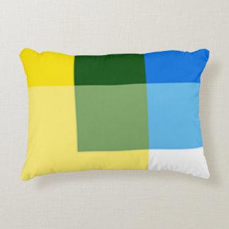 Almohada amarilla limón del acento del multicolor