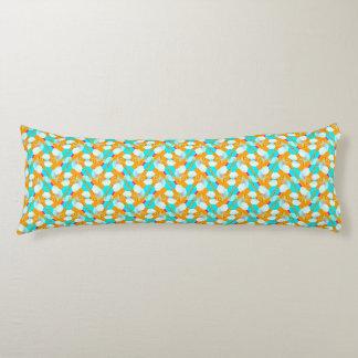 Almohada anaranjada del cuerpo de la aguamarina cojin cama