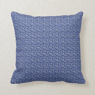 Almohada aseada del modelo de los azules de las