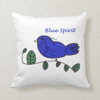 Almohada azul de la decoración del hogar del