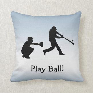 Almohada azul de los deportes del béisbol de la