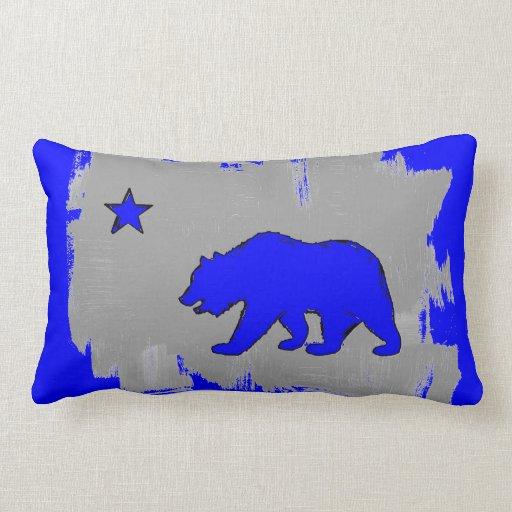 Almohada azul de neón de la decoración del oso de