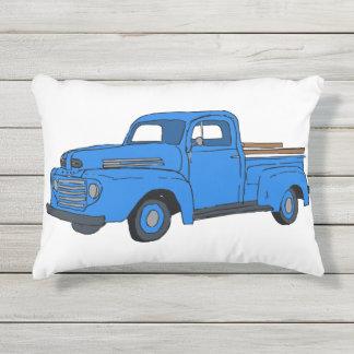 Almohada azul del camión del vintage cojín de exterior