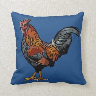 Almohada azul del gallo