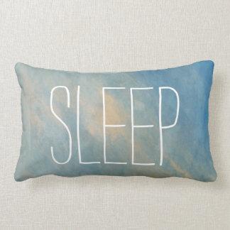 Almohada azul del Lumbar de la acuarela del sueño