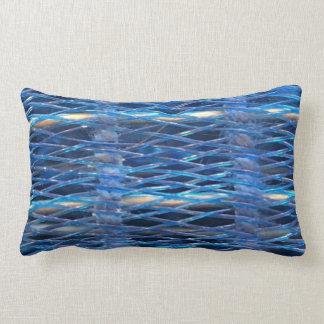 Almohada azul del rodillo del pelo