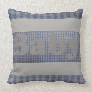 Almohada azul linda del diseñador del bebé de la
