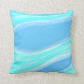 Almohada azul y ciánica