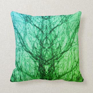 Almohada azulverde abstracta del arte moderno de