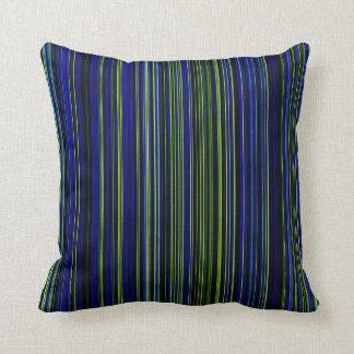 Almohada azulverde de la decoración de la cal