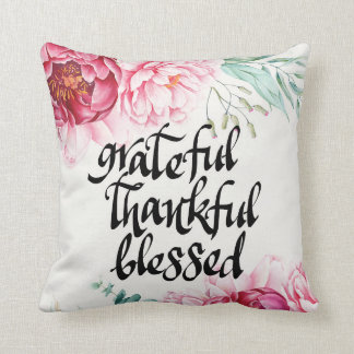 Almohada bendecida agradecida agradecida del