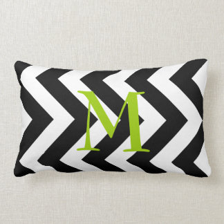 Almohada blanco y negro del Lumbar del zigzag del