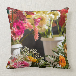 Almohada brillante de las flores, amortiguador
