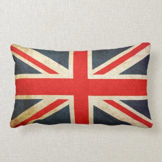 Almohada británica del Lumbar de la bandera de