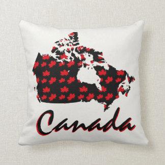 Almohada canadiense de Canadá del arce rojo de la