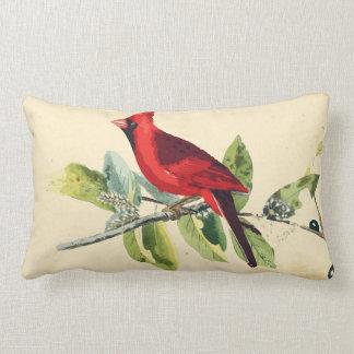 Almohada cardinal de la decoración del pájaro