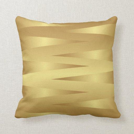 Almohada casera abstracta de la decoración del oro