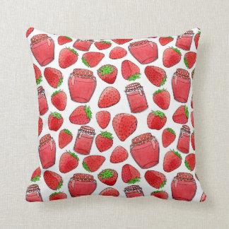 Almohada colorida de las fresas y de los atascos