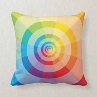 Almohada colorida del arco iris