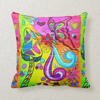 almohada colorida maravillosa psicodélica del