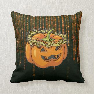 Almohada cuadrada de Halloween BokehLights de la