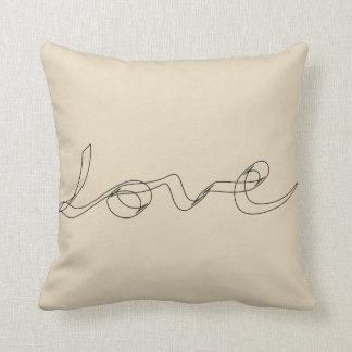Almohada de Calligrahphy del amor