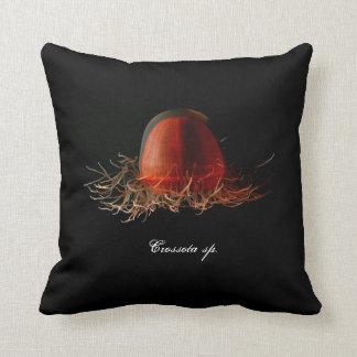 Almohada de color rojo oscuro de la medusa