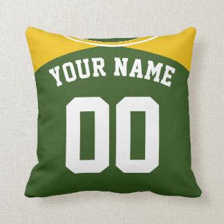 Almohada de encargo del nombre y del número del
