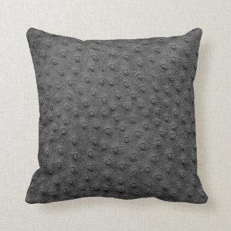 Almohada de gran tamaño gris del grano del cuero