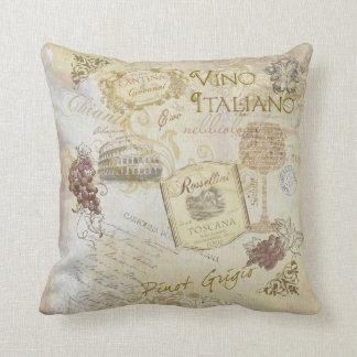 Almohada de Italiano II del vino