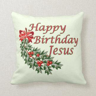 Almohada de Jesús del feliz cumpleaños